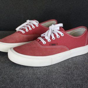 Vans Authentic Pro Red Suede Canvas, UltraCush
